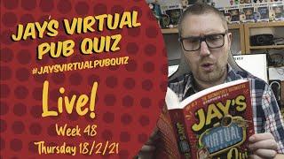 Virtual Pub Quiz, Live! Thursday 18th February