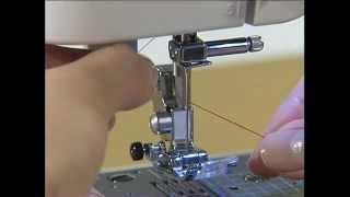 Заправка нити - уроки шитья на швейной машинке