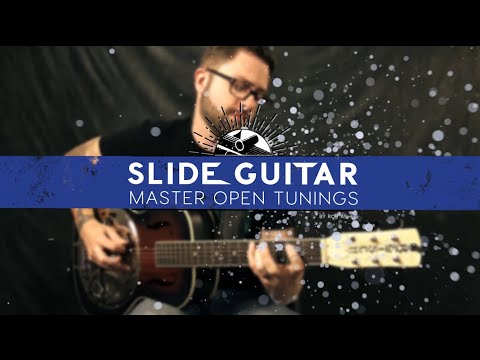 Step 1: Building A Blues Scale In Open D Tuning || Slide Guitar