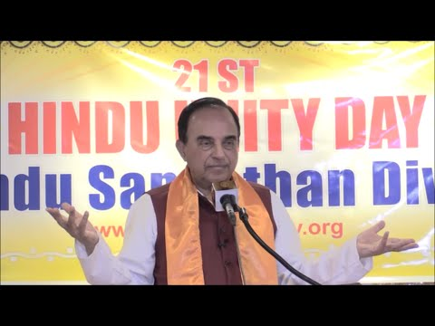 Dr. Subramanian Swamy's speech | 21st Annual Hindu Unity Day | September 10, 2016 |  New York, USA