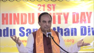 Dr. Subramanian Swamy's speech | 21st Annual Hindu Unity Day | September 10, 2016 |  New York, USA