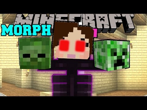 Thumbnail: Minecraft: MORPH! (TURN INTO ANY MOB OR ANIMAL!) Custom Command