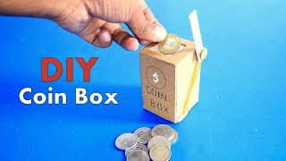 How to Make a Coin Box From Cardboard DIY at Home