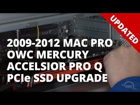 How to Install an OWC Mercury Accelsior Pro Q PCIe SSD in a 2009-2012 Mac Pro – UPDATED