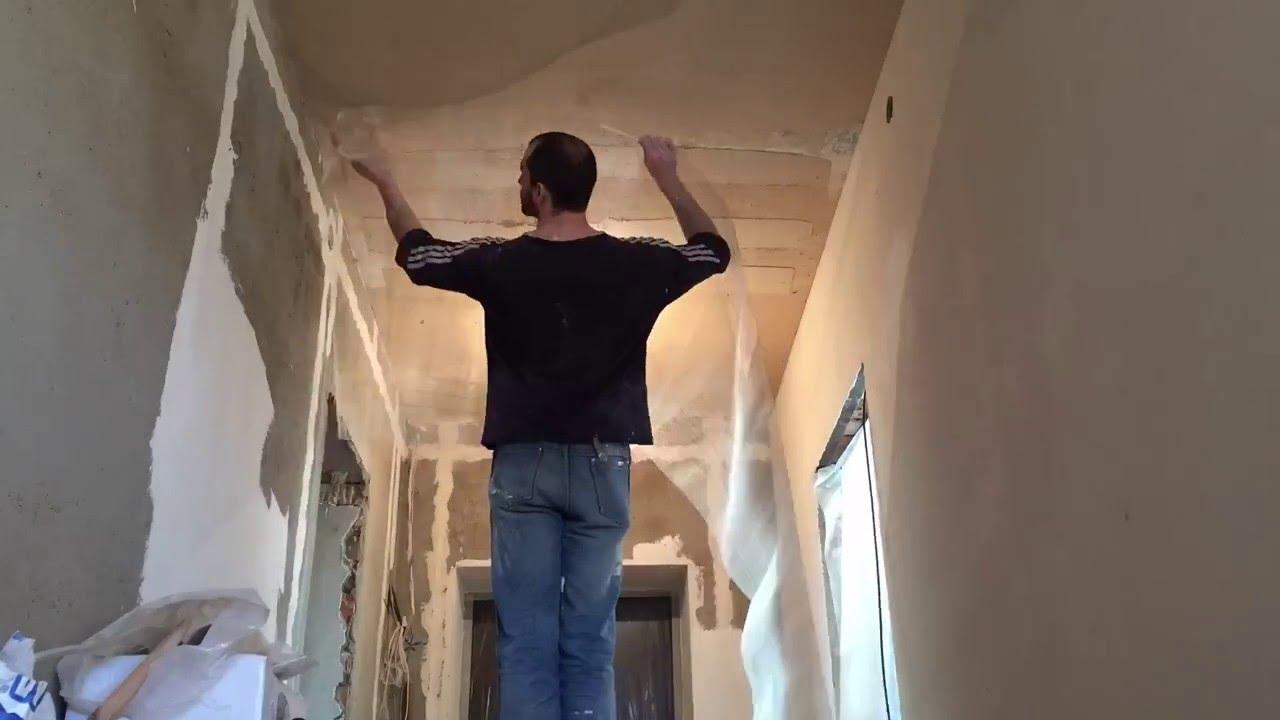 Потолок из сетки своими руками