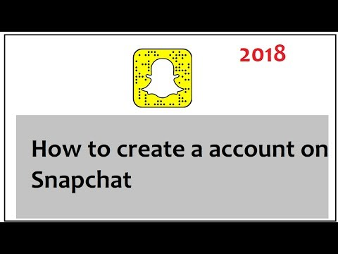 how to create a account on snapchat 2018