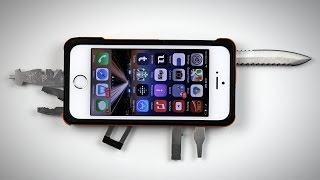 Repeat youtube video Crazy iPhone Knife Case!