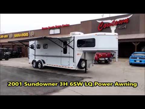 2001 Sundowner 3H 6SW LQ Power Awning - YouTube