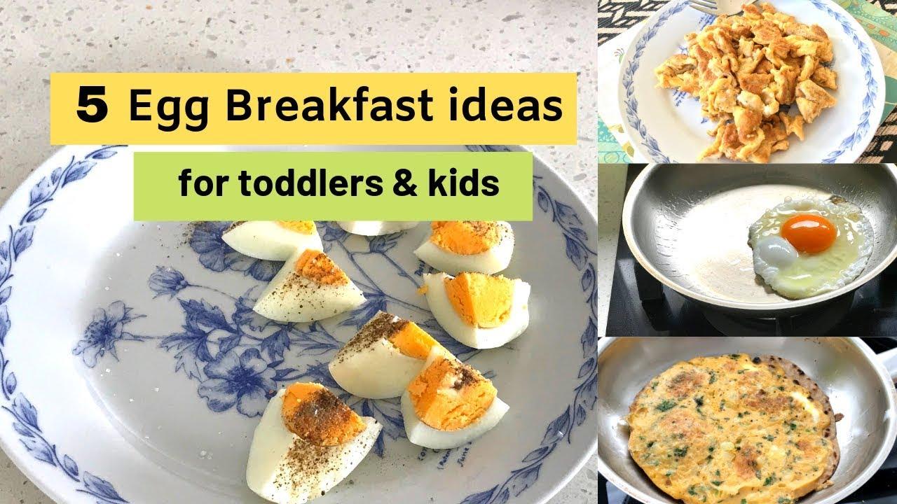 5 Easy Egg Breakfasts For 1 Toddlers Kids Youtube
