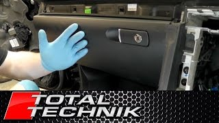 How to Remove Glove Box / Glove Compartment - Audi A4 S4 RS4 - B6 B7 - 2001-2008 - TOTAL TECHNIK