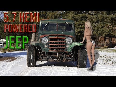 1951 WILLYS JEEP Pickup Truck Now with HEMI AWD!!