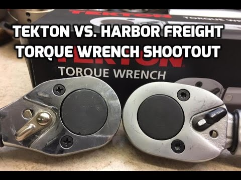 "Tekton vs. Harbor Freight ½"" torque wrench review and accuracy test"
