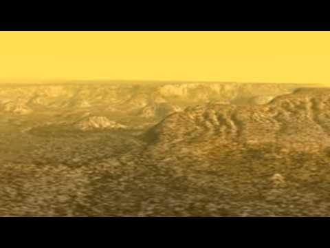 NASA Cassini Titan Canyon Country - YouTube