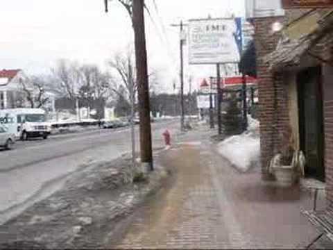 North Conway, New Hampshire - Walking along Main Street