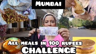 Living On Rs 100 For 24 HOURS in Mumbai 😱 Is it possible? No Vada Pav