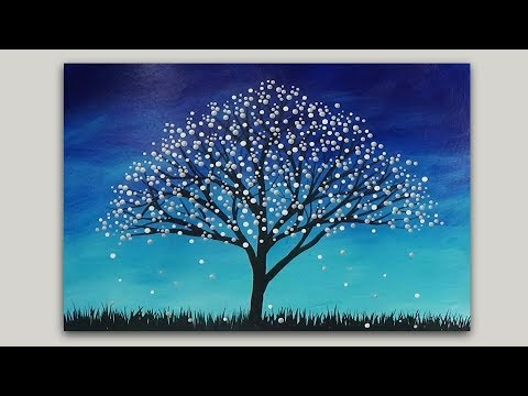 surreal fantasy tree acrylic