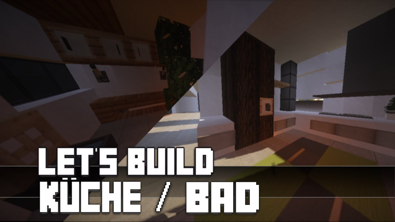 Minecraft :: Möbel Tutorial :: Moderne Küche / Bad Bauen #2 - YouTube