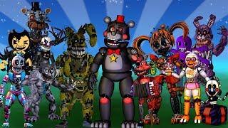 Супер Игра Макса Новый Фнаф Ворлд герои из фнафа из Бенди из Андертейл Новые Аниматроники Fnaf World
