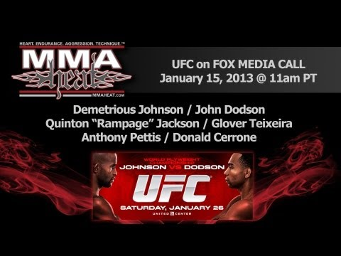 UFC on FOX: Johnson vs Dodson Pre-Fight Conference Call (LIVE! / complete + unedited)