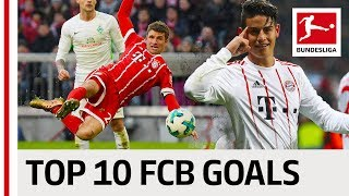 FC Bayern München Best Goals Season 2017/18 - James, Lewandowski & More