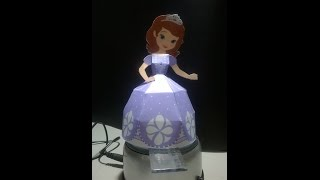 DIY - princesa sofia personagem em papel - papercraft