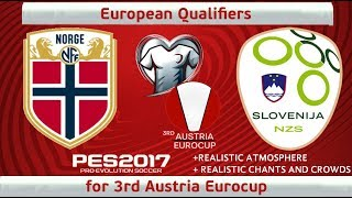 Norway vs. Slovenia | Last Fixture | 3rd Austria Euro Qualifiers | PES2017 | 60fps