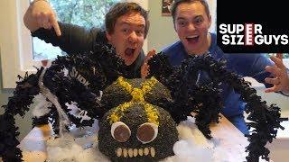 Giant Spider Cake (& Halloween Prank!)