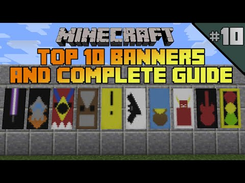 Minecraft top 10 banner designs! Ep 10 With tutorial!