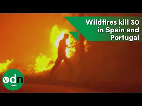 Wildfires kill 30 in Spain and Portugal