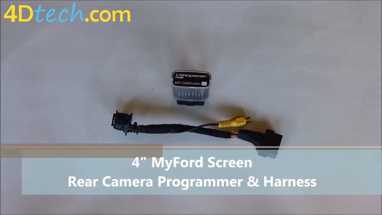 4` MyFord Backup Rear Camera Programmer and Harness by 4D Tech