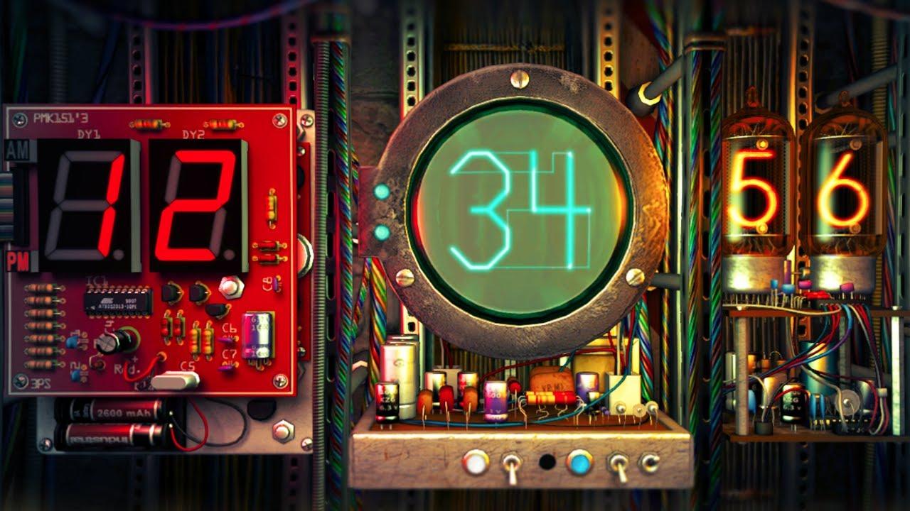 Digital Clock Screensaver Windows