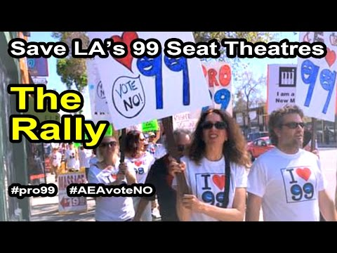 Actors' Equity Members march to save intimate theatre in Los Angeles