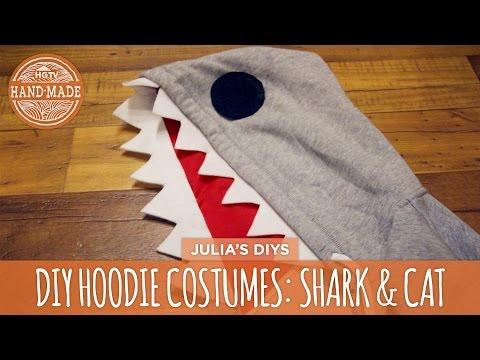 DIY Black Cat & Shark Hoodie Costumes - HGTV Handmade
