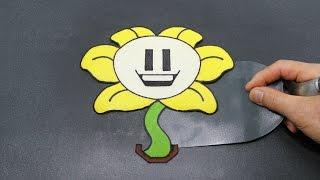 Flowey the Flower Undertale Pancake Art
