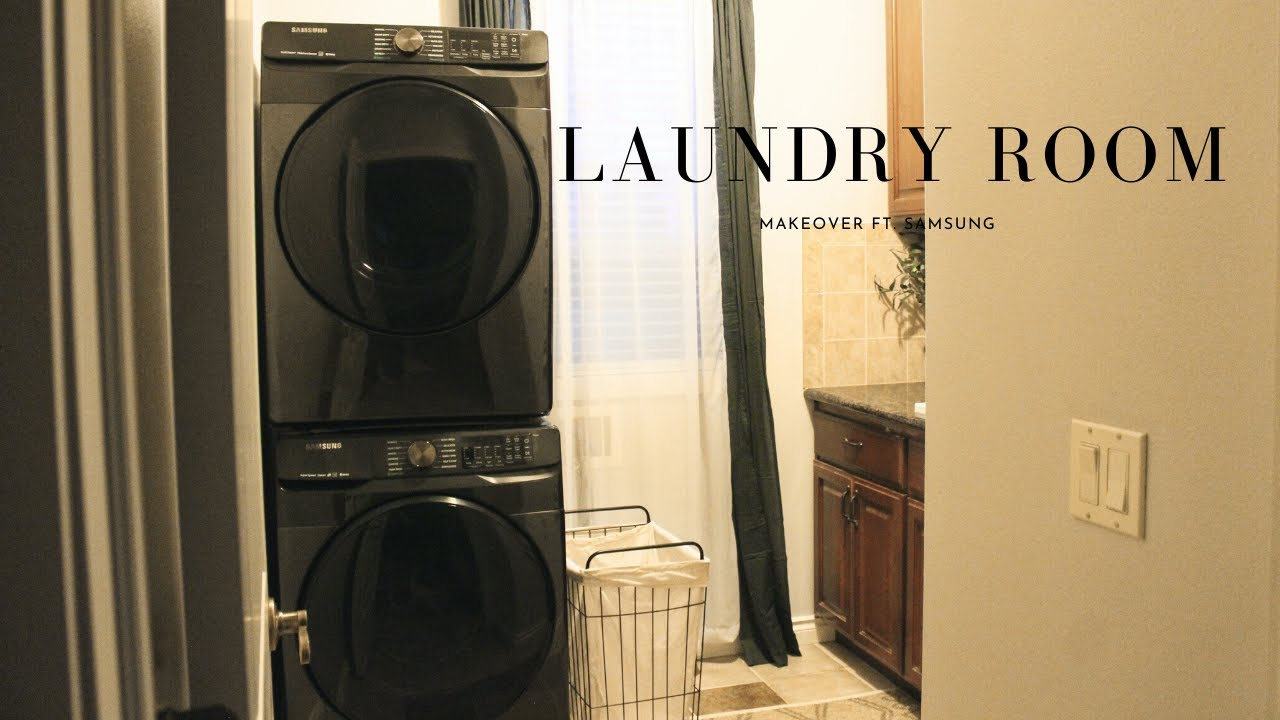LAUNDRY ROOM MAKEOVER FT. SAMSUNG