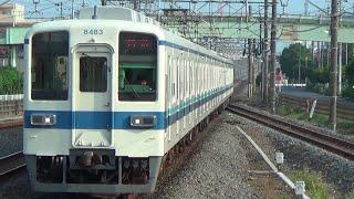【送り込み回送と南栗工入場回送】東武8000系8506F+8183F回送通過
