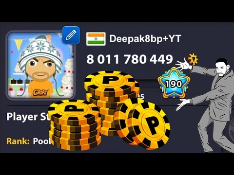 8 Ball Pool OMG 8000000000 Coins Berlin + 10th Berlin Ring w/ Shangri La Cue