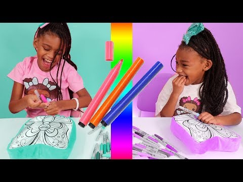 3 Marker Make Your Own Squishy Pillow Toy Challenge!!!