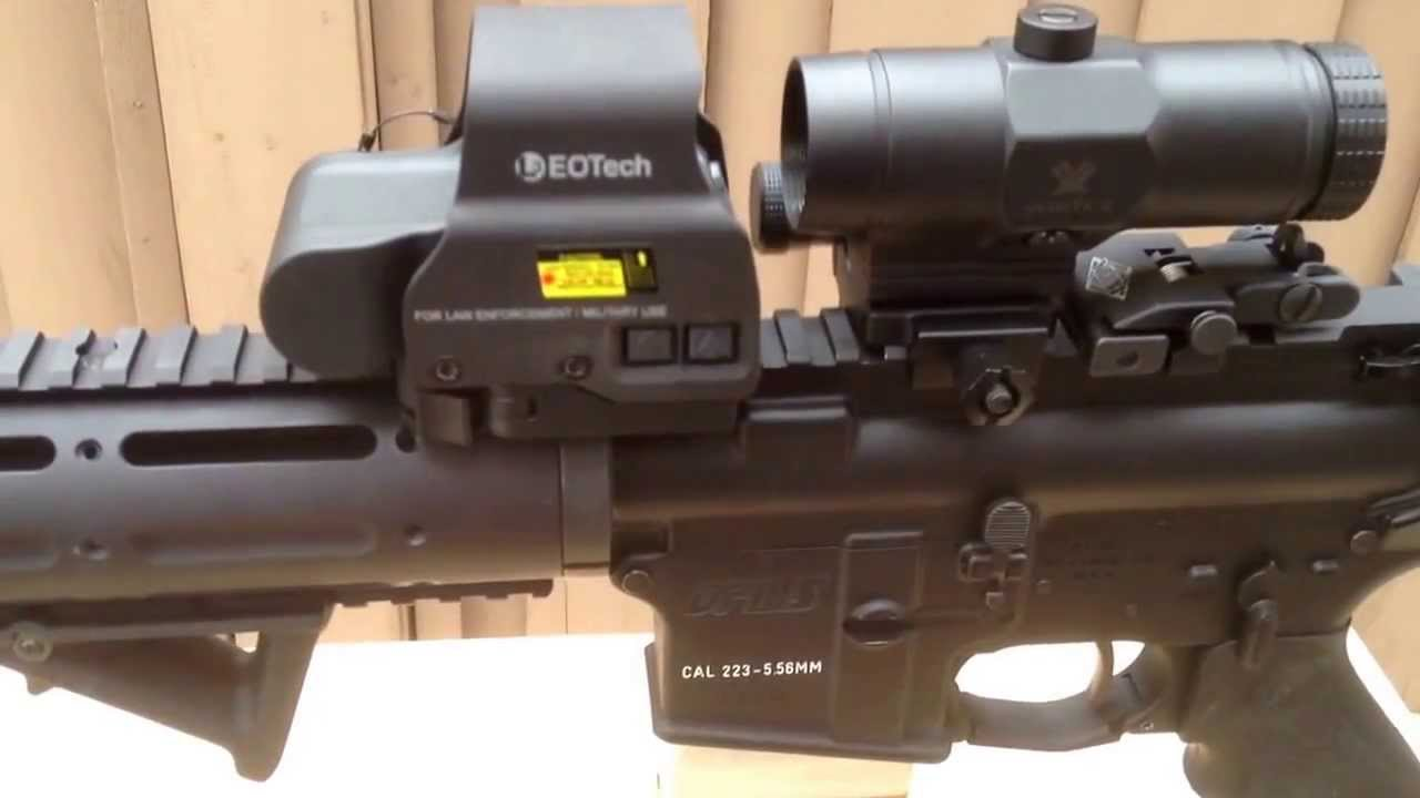 Vmx3 T Magnifier Paired With Eotech Youtube