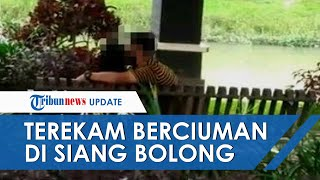 Sepasang Remaja Di Tulungagung Nekat Ciuman Saat Siang Bolong Di Bangku Taman, Warga Berikan Kecaman