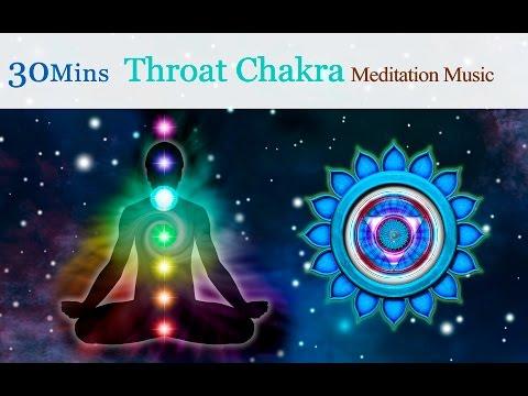 ★30mins★Tibetan Singing Bowls Meditation Music for Chakra Healing:Throat Chakra (for Communication)