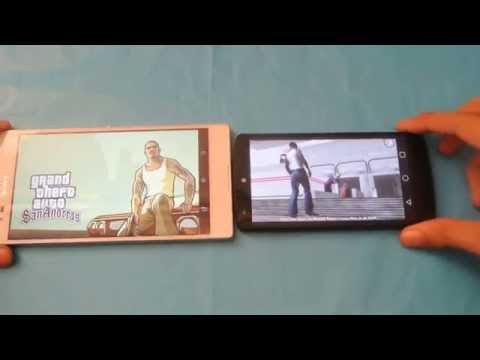 Sony Xperia T2 Ultra vs Nexus 5 - GTA San Andreas Gameplay Comparison HD