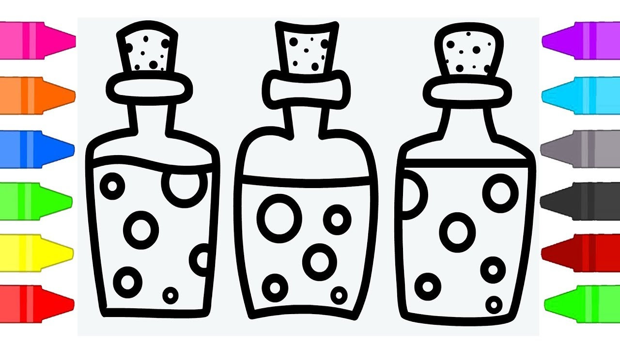 Magic Potion Coloring Pages For Kids | Coloring Book For ...