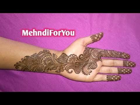 Arabic mehndi design for front hand or palm || Mehndi designs || Arabic heena design