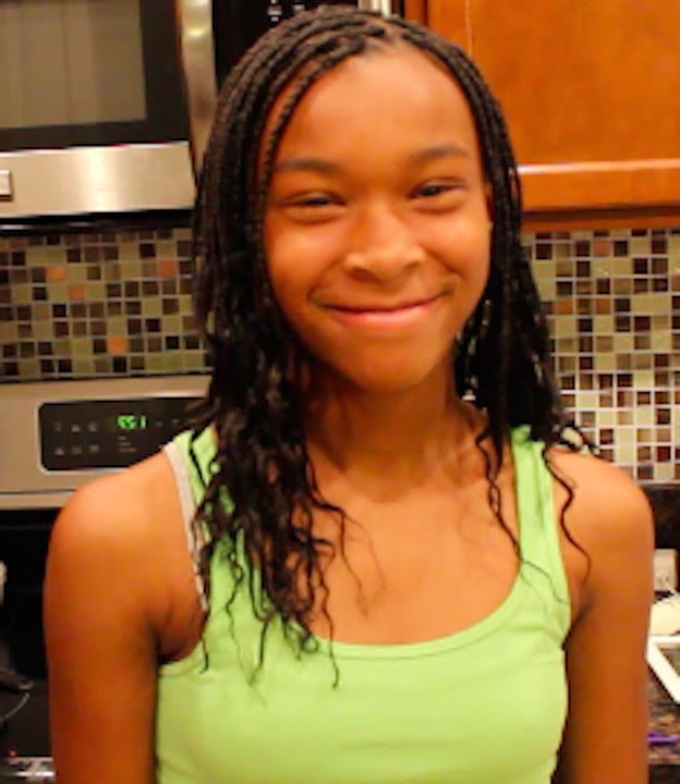 Box Braids On My Daughter S Natural Hair Youtube