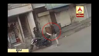 lady don threaten at pan parlar in Surat with sword, video viral