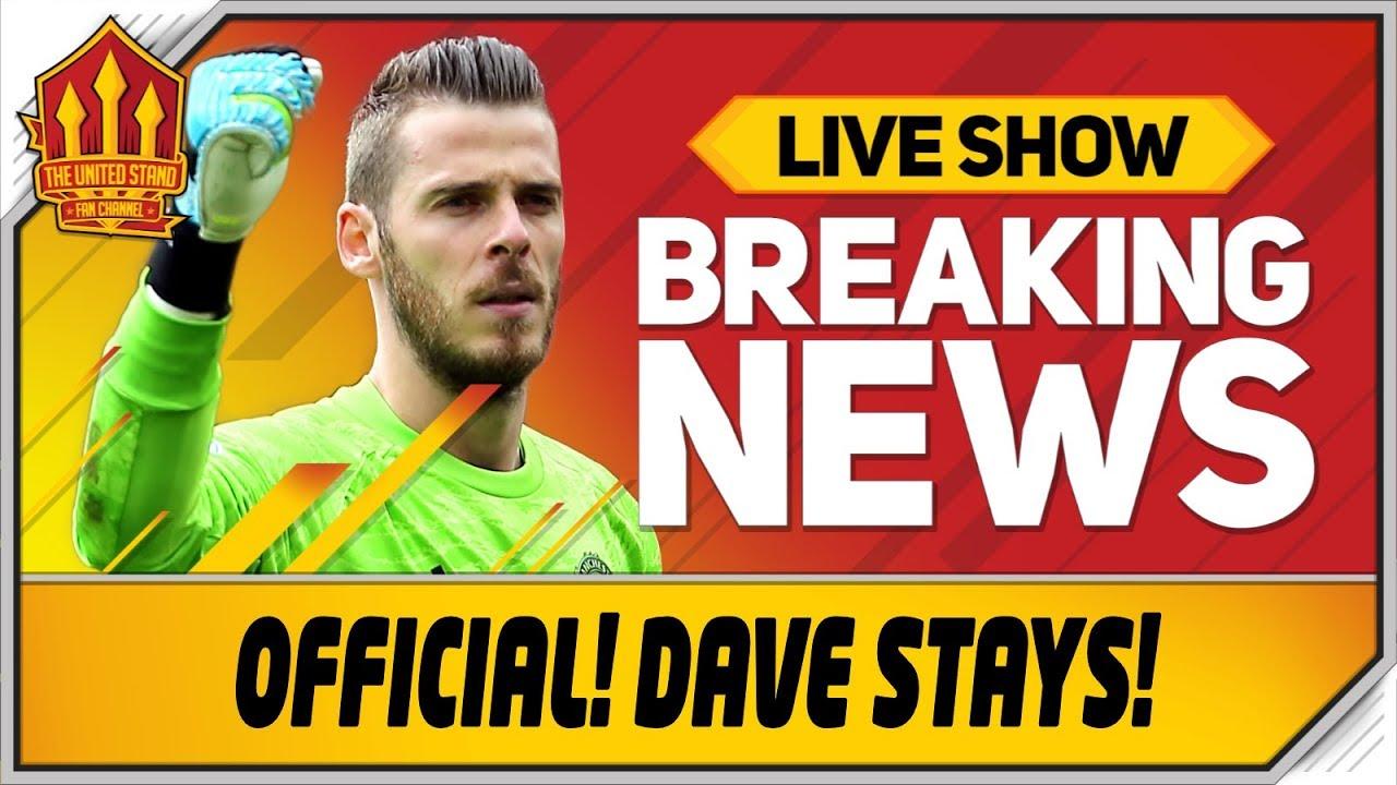 size 40 fba70 d05ae De Gea SIGNS New Man Utd Contract! Man Utd News