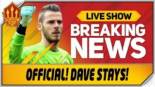 De Gea SIGNS New Man Utd Contract! Man Utd News
