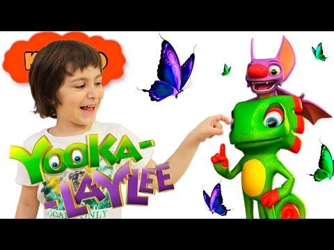 🐸 YOOKA LAYLEE 🦇 #1 ВОЛШЕБНАЯ КНИГА прохождение игры  НОВЫЕ ИГРЫ 2017 Кикидо плей