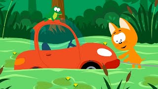 Мультфильм про машинки – Котенок и волшебный гараж –все серии сразу - сборник  - Для самых маленьких